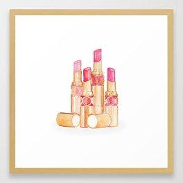 Lipsticks Framed Art Print