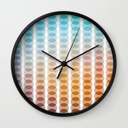 Tropical with circles I Wall Clock