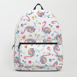 Floral Flamingo Backpack