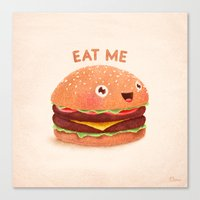 burger Canvas Prints featuring Burger by Lime
