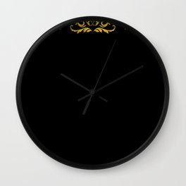 Golden Paradox Wall Clock
