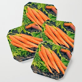 Gardening is...Walking with God Carrots Coaster