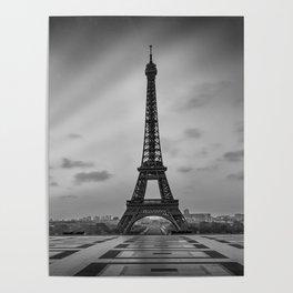Eiffel Tower at Sunrise | Monochrome Poster