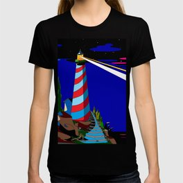 A Night at the Lighthouse with Search Light Active T-shirt