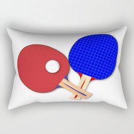 Pair Of Table Tennis Bats Rectangular Pillow