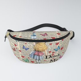 Drink Me - Vintage Dictionary Page - Alice In Wonderland Fanny Pack