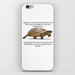 When A Tortoise Embarks On A Journey African Proverb iPhone Skin
