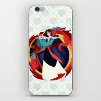 mulan iPhone & iPod Skins featuring Mulan by Karrashi