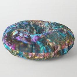 Turquoise Oil Slick Quartz Floor Pillow
