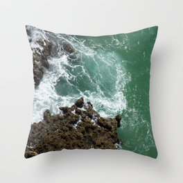 Green Ocean Atlantique Throw Pillow