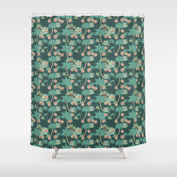tropical night Shower Curtain