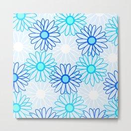 flower child, blue Metal Print