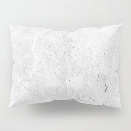 White Light Gray Concrete Pillow Sham