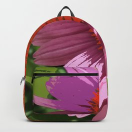 Echinacea, coneflower, purple pink flower Backpack