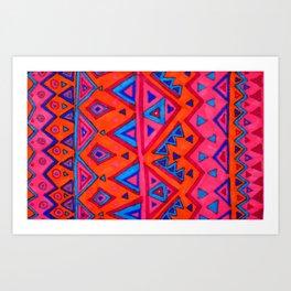 February triangles  Art Print