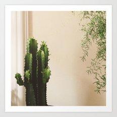 Cactus & Friend Art Print