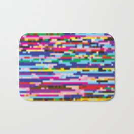 Glitch colorful background Bath Mat