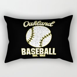 Oakland Baseball Baseball Bat USA Rectangular Pillow