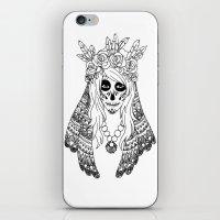 calavera iPhone & iPod Skins featuring Calavera by Caz Lock Draws