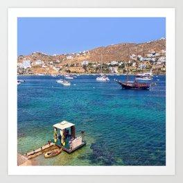 Mykonos, Greece Ocean Relaxing View Art Print