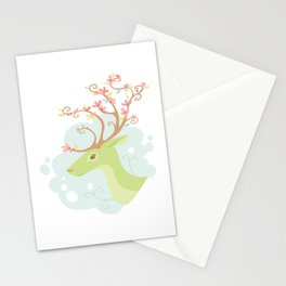 Spring Antlers Stationery Cards