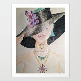 SLAY WITCH | Orginal drawing by Natalie Burnett Art Art Print