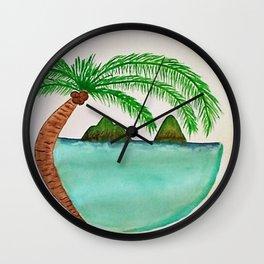The Lanikai Love Wall Clock