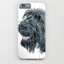 Smiling Black Labradoodle iPhone Case