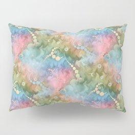 Satin Rainbow Pastel Floral Pillow Sham