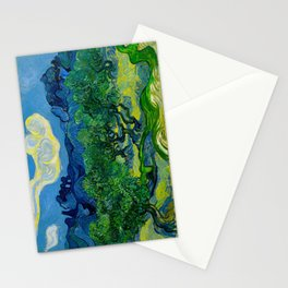 Olive Trees by Vincent Van Gogh Oil Painting Stationery Cards