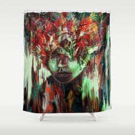 Chaotic Mind Shower Curtain