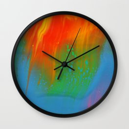 Smooth Fire Wall Clock