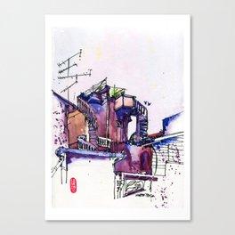 20160619 Kluang Backlane Canvas Print