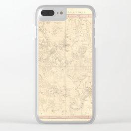 Burritt's Constellations (July, August, September) (1856) Clear iPhone Case