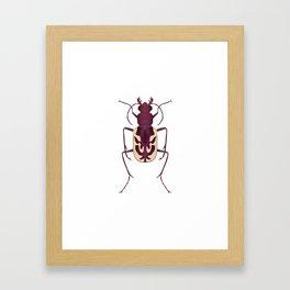 Blowout Tiger Beetle Framed Art Print