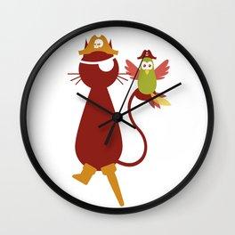 Whiskerbeard, the Pirate Cat Wall Clock