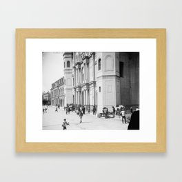Saint Louis Cathedral, New Orleans 1910 Framed Art Print