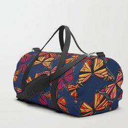 Hot Monarchs on Navy Duffle Bag