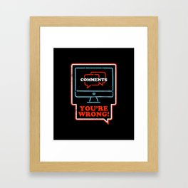 Comments Section Framed Art Print
