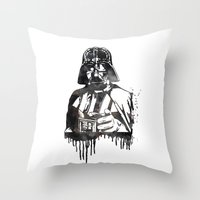 darth vader Throw Pillows featuring Darth Vader by Jon Hernandez
