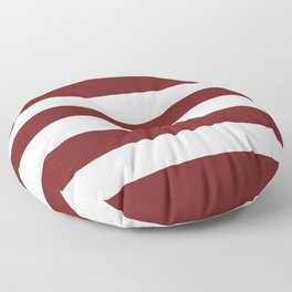 Prune - solid color - white stripes pattern Floor Pillow