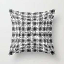 Shiny Disco Ball Silver Throw Pillow