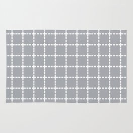 Dotted Grid Grey Rug