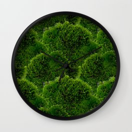 Moss - Green Luscious Mossy Texture - Full on Natural Moss Mounds- Earthy Greens -Turning Moss Green Wall Clock