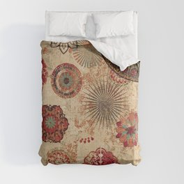 Bohemian Floral Moroccan Style Design Comforters
