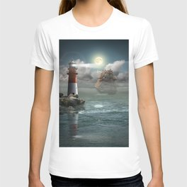Lighthouse Under Back Light T-shirt