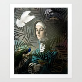 Eve in the Garden II Art Print