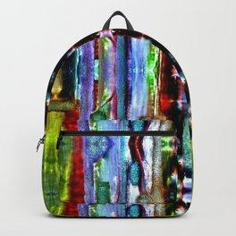 India Goa Painting Metallic Backpack