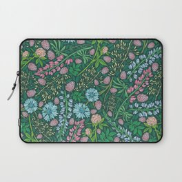 Violet clover and lupine among cornflowers and herbs Laptop Sleeve