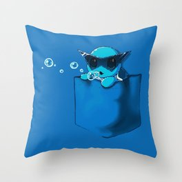 Blowing Bubble Squirtle Throw Pillow